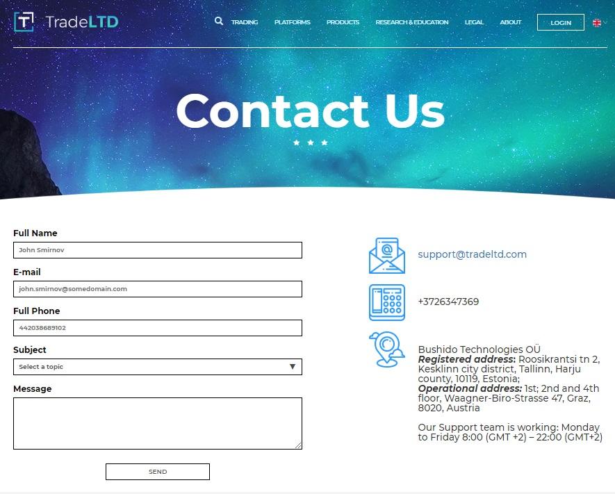 tradeltd-customer-service