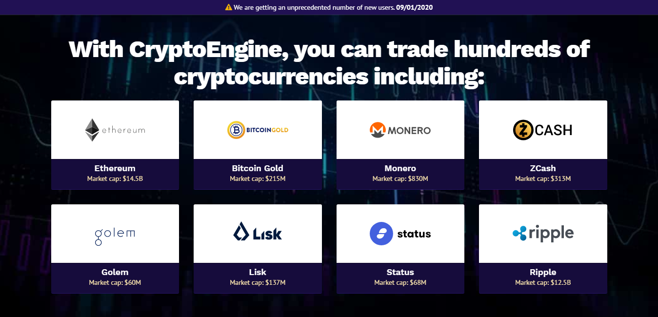 Crypto Engine Cryptocurrency Trading Robot