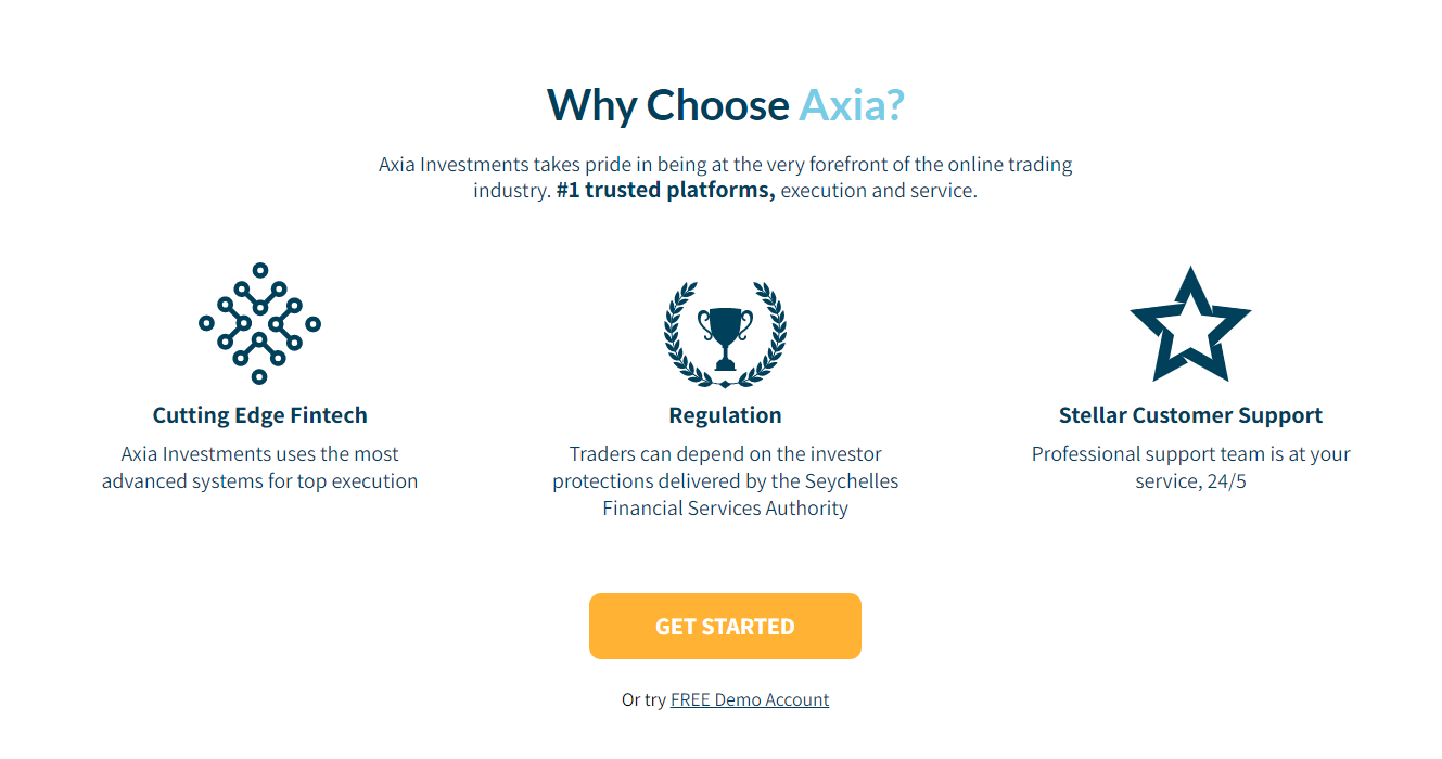 Axia Investments main features